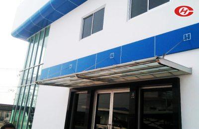 กันสาดอาคารสำนักงาน หลังคาอาคารสำนักงาน จินเฮงการช่าง