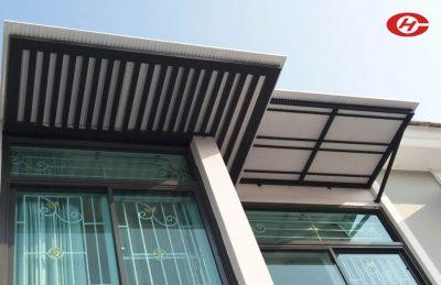 กันสาดหน้าต่าง หลังคาหน้าต่าง จินเฮงการช่าง